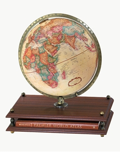 """Picture of Premier 12"""" World Globe with World Atlas"""