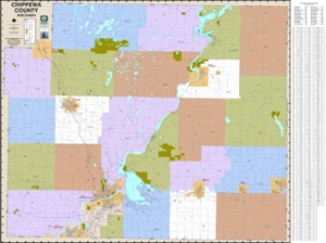 Picture of Chippewa County Wisconsin Wall Map