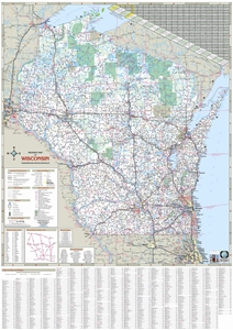 Picture of Wisconsin State Highway Wall Map
