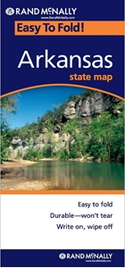 Picture of Arkansas Easy to Fold State Map