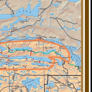 Picture of Boundary Waters Canoe Area (BWCA) and Quetico Provincial Park Overview Map