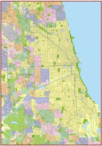 Picture of City of Chicago Wall Map