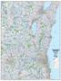 "Picture of Southeastern Wisconsin Highway Wall Map SIZE 38"" x 50"""