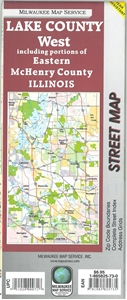 Picture of Lake County West Illinois Street Map