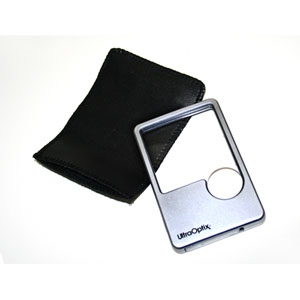 Picture of Wallet Size LED Lighted Handheld Magnifier 2X Lens With a 6X Bifocal