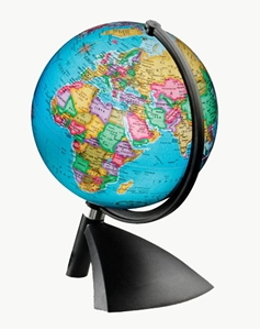 "Picture of Terenne 6""  Illuminated World Globe"