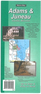 Picture of Adams & Juneau Counties Wisconsin Folded Street Map