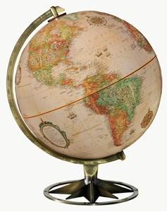 """Picture of Compass Rose 12"""" World Globe"""