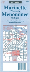 Picture of Marinette WI and Menominee MI Folded Street Map