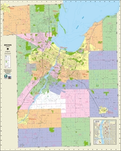 Picture of Brown County Wisconsin Wall Map