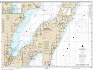 Picture of 14910 - Lower Green Bay - Algoma And Oconto Nautical Chart