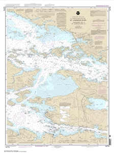 Picture of 14773 - St. Lawrence River - Gananoque, Ontario To St. Lawrence Park, NY Nautical Chart