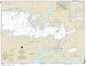 Picture of 14996 - Boundary Waters - Rainy Lake - Big Island, MN To Oakpoint Island, Ontario Nautical Chart