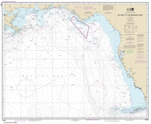 Picture of 11006 - Gulf Coast - Key West, FL To The Mississippi River Nautical Chart