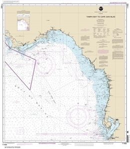 Picture of 11400 - Tampa Bay To Cape San Blas Nautical Chart