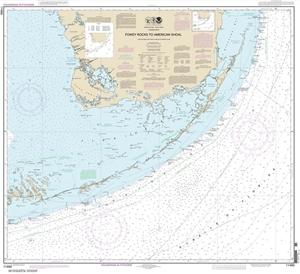 Picture of 11450 - Florida Keys - Fowey Rocks To American Shoal Nautical Chart