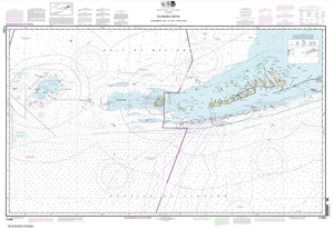 Picture of 11434 - Florida Keys - Sombrero Key To Dry Tortugas Nautical Chart