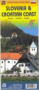 Picture of International Travel Maps - Slovenia & Croatia Coast Travel Map