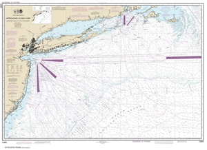 Picture of 12300 - Approaches To New York - Nantucket Shoals To Five Fathom Bank Nautical Chart