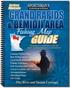 Picture of Northern Minnesota Grand Rapids & Bemidji Area Fishing Map Guide