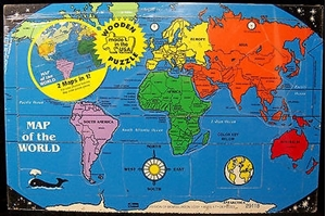 Picture of Connor Wooden Map of the World Puzzle
