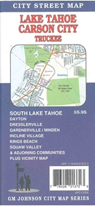 Picture of Lake Tahoe, Carson City, Nevada Street Map