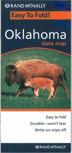 Picture of Oklahoma Easy to Fold State Map