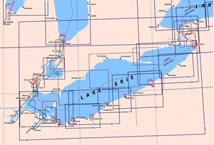 Picture of Click Here For an Easy To Read Lake Erie Nautical Chart Index