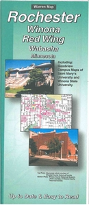 Picture of Rochester, Winona, Red Wing, Wabasha, Minnesota, Folded City Street Map