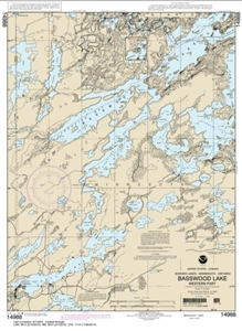 Picture of 14988 - Boundary Waters - Basswood Lake - Western Part Nautical Chart