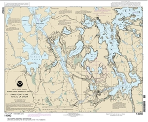 Picture of 14992 - Boundary Waters - Sand Point Lake To Lac La Croix Nautical Chart