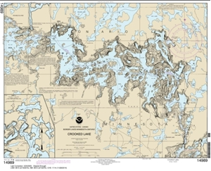 Picture of 14989 - Boundary Waters - Crooked Lake Nautical Chart
