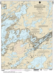 Picture of 14987 - Boundary Waters - Basswood Lake - Eastern Part Nautical Chart