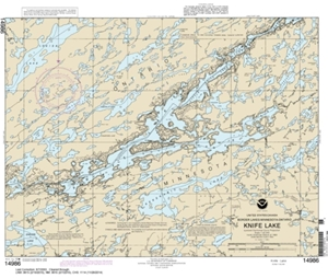 Picture of 14986 - Boundary Waters - Knife Lake Nautical Chart