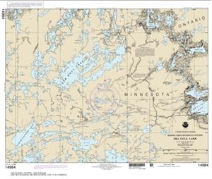 Picture of 14984 - Boundary Waters - Sea Gull Lake Nautical Chart