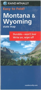 Picture of Montana & Wyoming Easy to Fold State Map