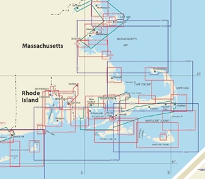 Picture of Click Here For an Easy To Read Martha's Vineyard To Cape Ann Nautical Chart Index