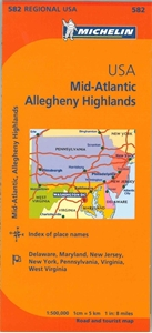 Picture of Michelin - USA Mid Atlantic, Allegheny Highlands (582)