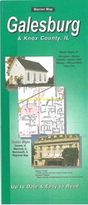 Picture of Galesburg, & Knox County, Illinois Folded Street Map