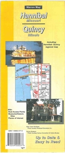Picture of Hannibal, Missouri & Quincy, Illinois Folded Street Map