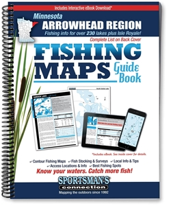 Picture of Northern Minnesota Arrowhead Region Fishing Map Guide