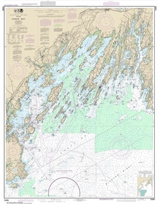 Picture of 13290 - Casco Bay Nautical Chart
