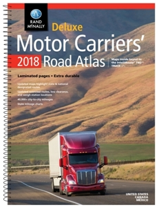 Picture of Rand McNally United States, Canada & Mexico Laminated Motor Carriers' Road Atlas - 2018 Edition