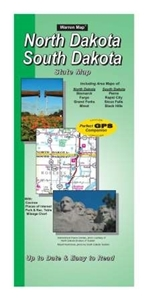 Picture of North/South Dakota State Road Map