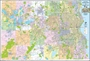"""Picture of Milwaukee County & Waukesha County Wisconsin Street Wall Map - Size 53"""" x 37"""" (2016 Edition)"""